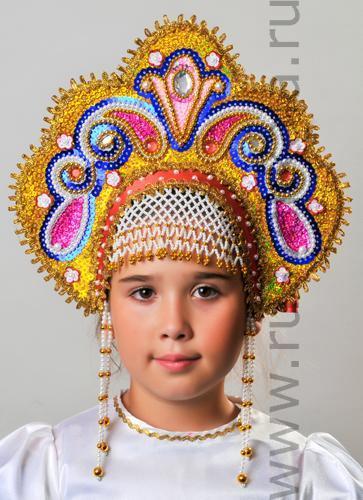 Как сделать кокошник для русского костюма своими руками
